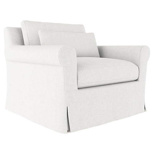Ludlow Accent Chair, Blanc