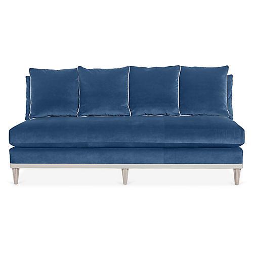 Pacific Heights Sofa, Blue Velvet