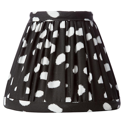 Spots Clip-On Lampshade, Black
