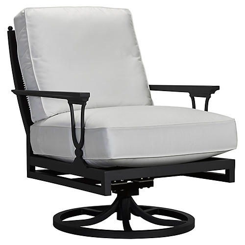 Winterthur Estate Swivel Rocker, White
