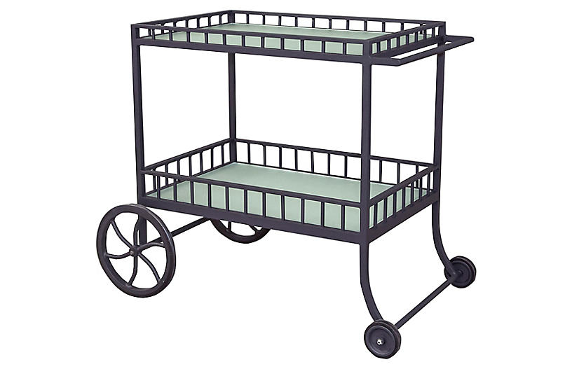 Winterthur Estate Bar Cart, Black