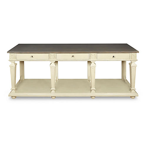 Swedish Lacquer Sideboard, Cream