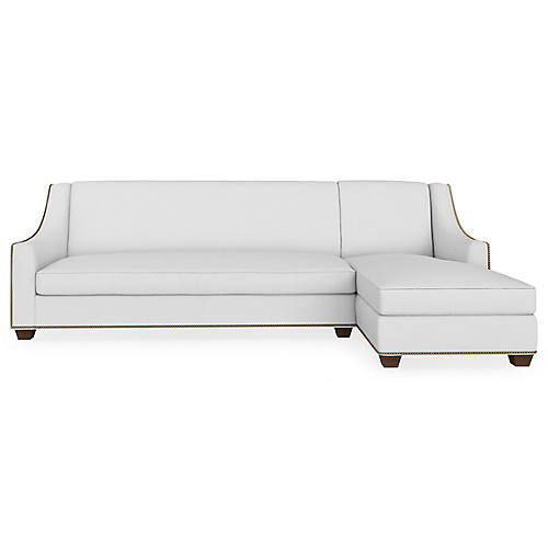 Pembroke Right-Facing Sectional, Pearl