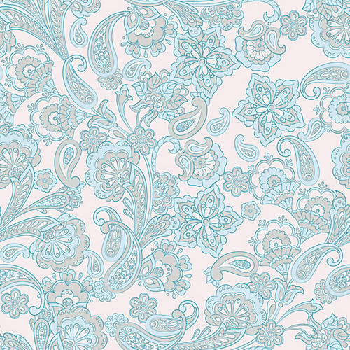 Removable Light Wash Wisteria Wallpaper, Blue