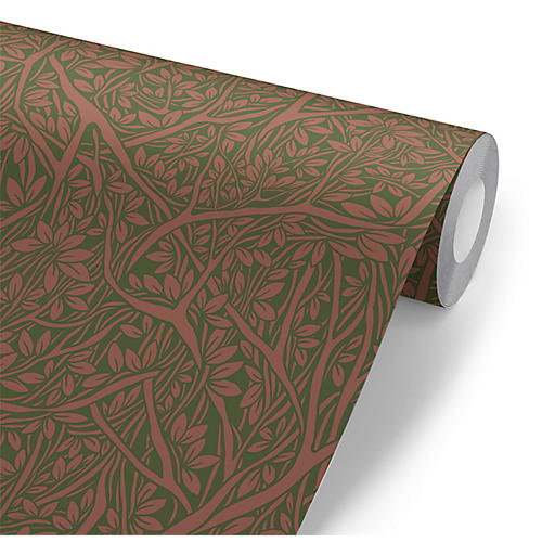 Removable Thick in the Thicket Wallpaper, Green