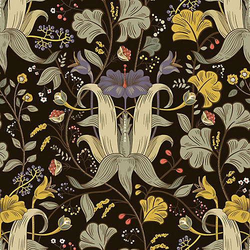The Thrissil & the Rois Wallpaper, Black