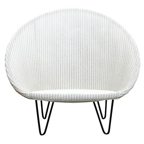 Joe Small Cocoon Chair, White/Black