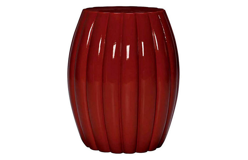 Chrysanthemum Stool, Red