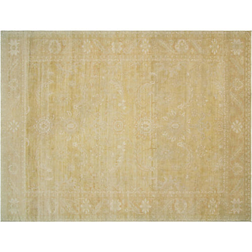 9x12 Egyptian Sultanabad Rug, Red/Gold