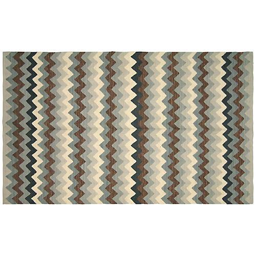 """4'1""""x6' Egyptian Kilim Rug, Sage"""