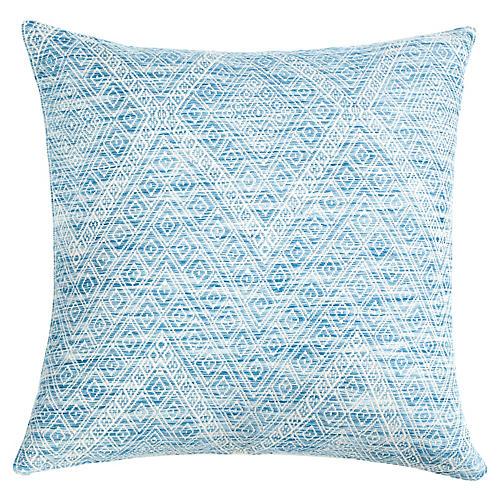 Nahualá 20x20 Pillow, Blue/White