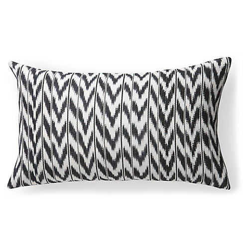 Toto 12x20 Lumbar Pillow, Black/White