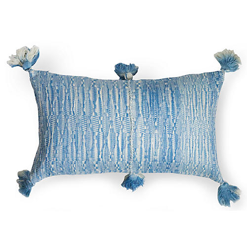 Antigua 12x20 Lumbar Pillow, Ocean Blue