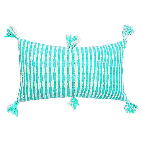 Antigua 12x20 Lumbar Pillow, Bright Aqua