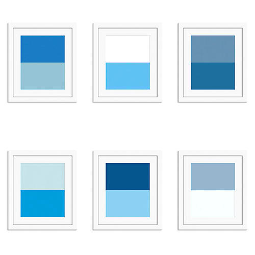 Pencil & Paper Co., Shades of Blue S/6