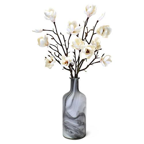 """30"""" Magnolia Stem Arrangement w/ Bottle, Faux"""