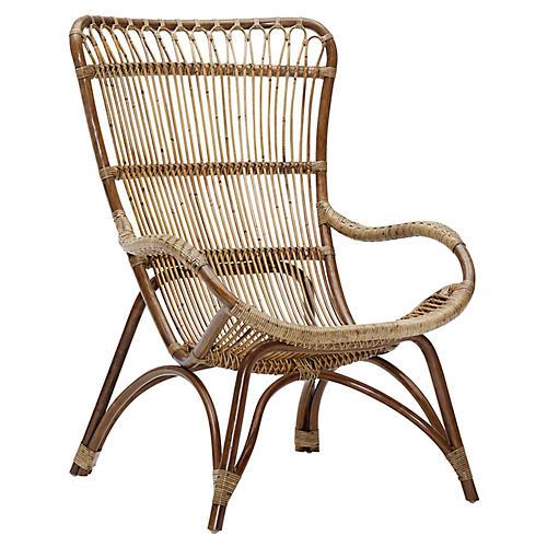 Monet Lounge Chair, Brown