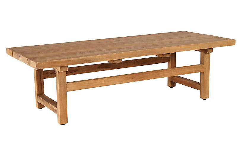 Julian Outdoor Teak Coffee Table, Natural