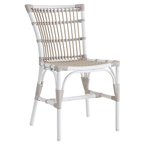 Elisabeth Outdoor Side Chair, Dove White
