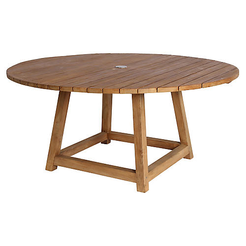 "George 63"" Dining Table, Natural"