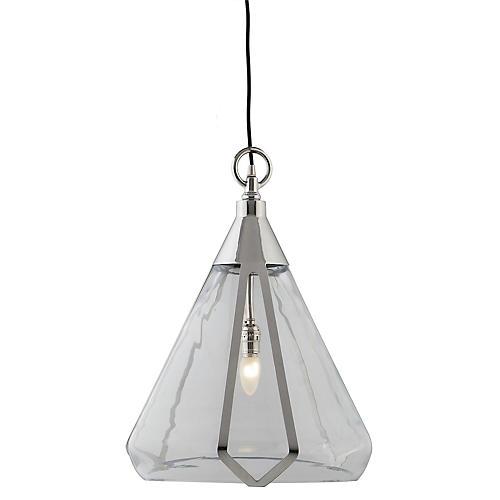 Burton Pendant, Silver/Clear