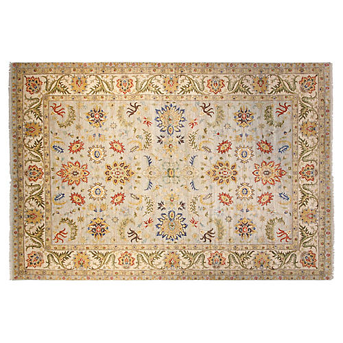10'x14' Agra Rug, Light Blue