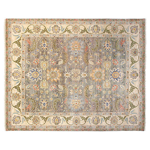 8'x10' Anderson Rug, Gray/Ivory