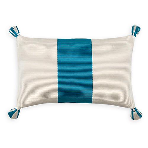Laguna Stripe 14x20 Pillow, Peacock