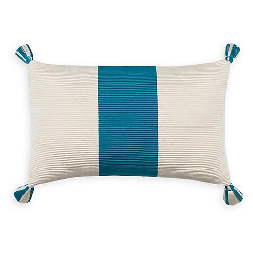 Laguna Stripe 14x20 Pillow, Peacock