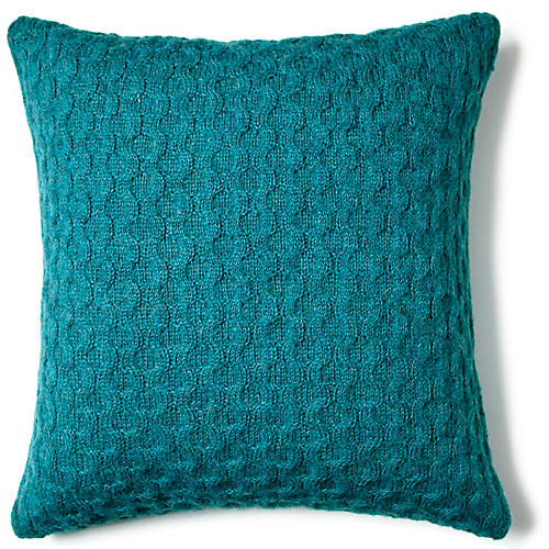 Theo 16x16 Pillow, Peacock