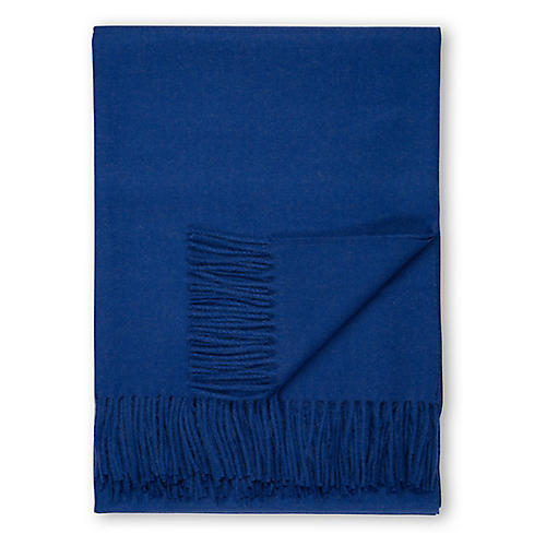 Madison Alpaca Throw, Cobalt