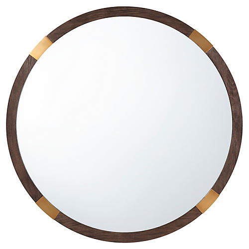 Orion Wall Mirror, Brown/Gold