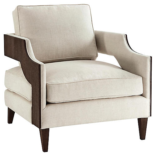 Emerson Club Chair, Cream