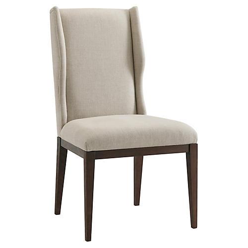 S/2 Kingsley Side Chairs, Cream