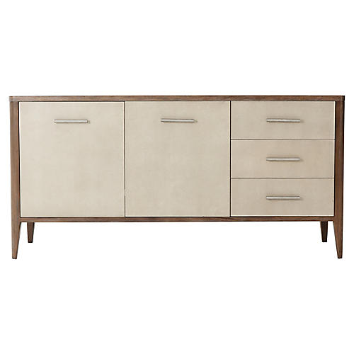 Shelton Faux-Shagreen Sideboard, Natural