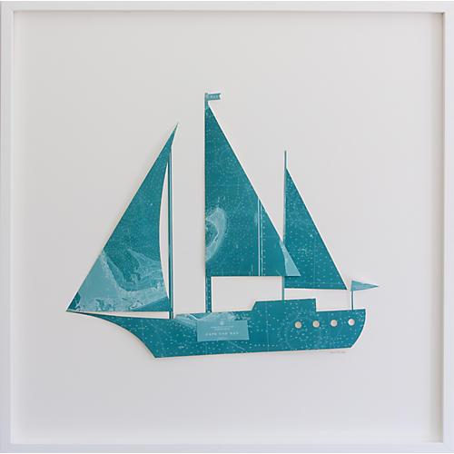 Dawn Wolfe, Cape Cod Map Sailboat