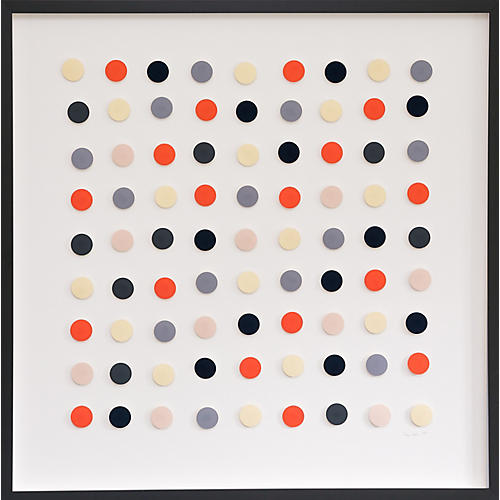 Dawn Wolfe, Tangerine & Black Dot Collage
