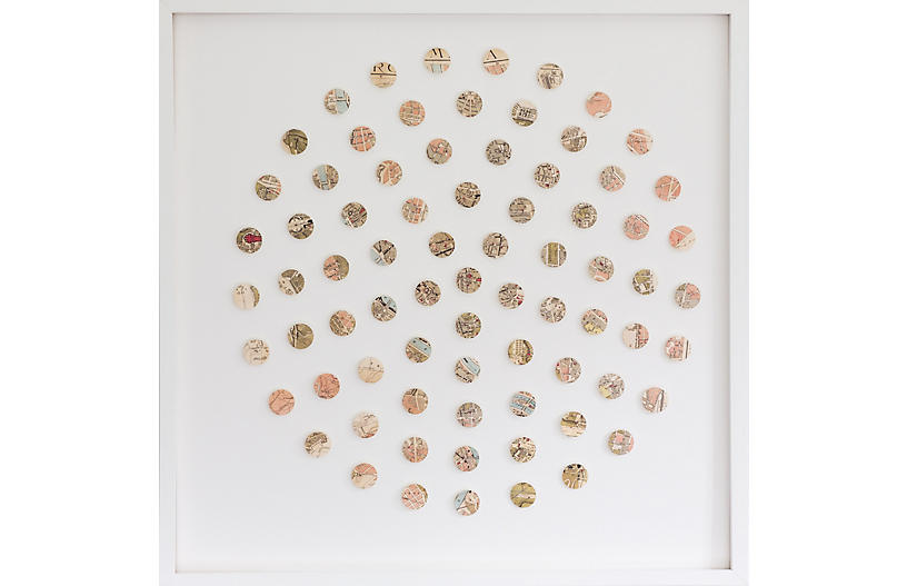 Dawn Wolfe, Rome Map Dot Collage