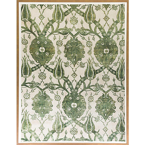 Dawn Wolfe, Leaf Green Silk Rug