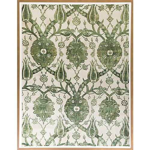 Dawn Wolfe, Leaf Green Silk Rug