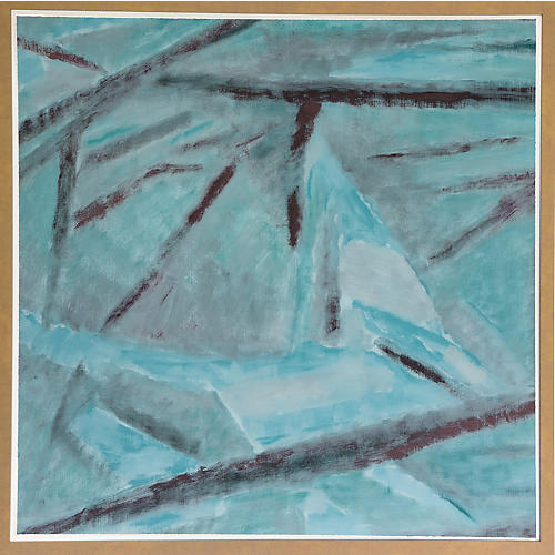Dawn Wolfe, Teal Cubist Abstract