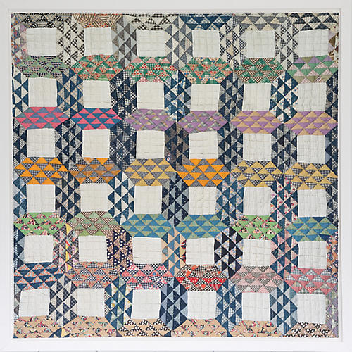 Dawn Wolfe, Navy Quilt Print