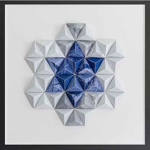 Dawn Wolfe, Long Island Origami Map Collage