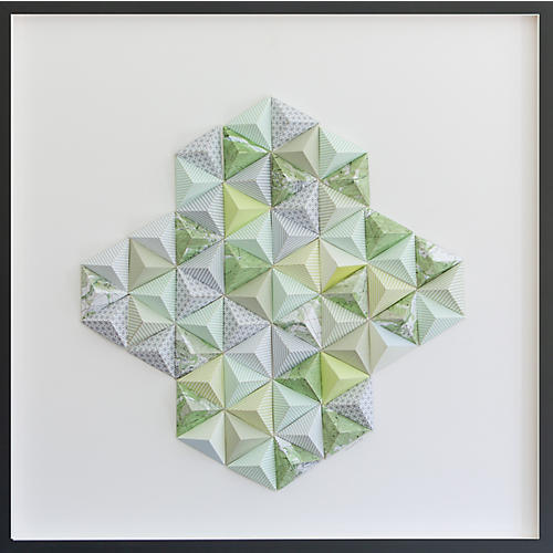 Dawn Wolfe, Aspen Origami Map Collage