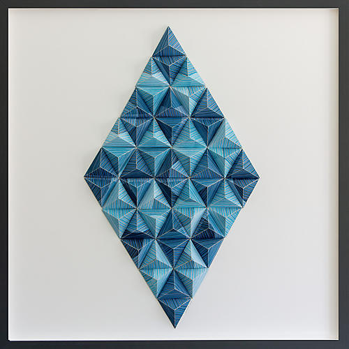 Dawn Wolfe, Striped Diamond Origami Collage