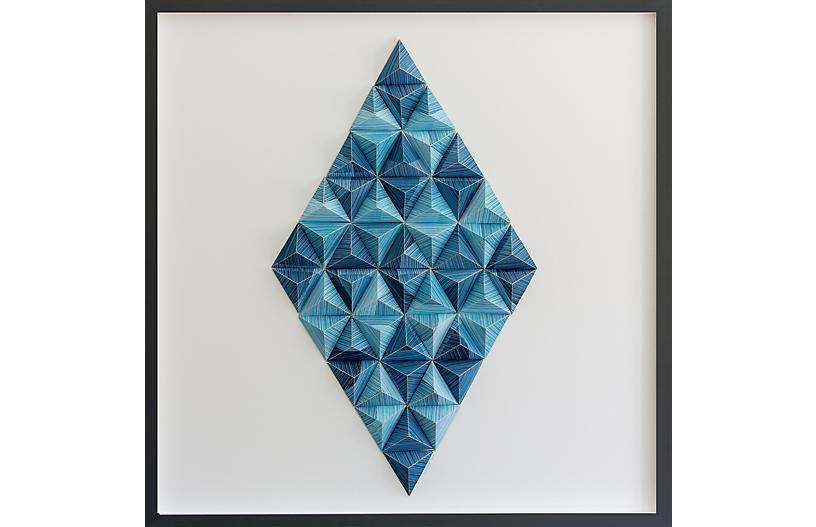 Dawn Wolfe, Striped Diamond Origami Collage