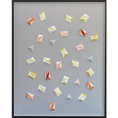 Dawn Wolfe, Pale Confetti Color Origami Collage