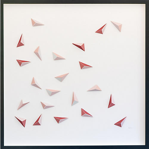 Dawn Wolfe, Quartz Abstract Origami Collage