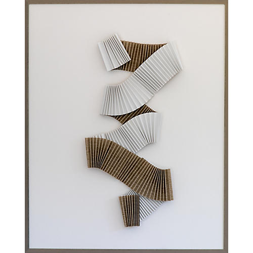 Dawn Wolfe, Pleated Khaki Abstract