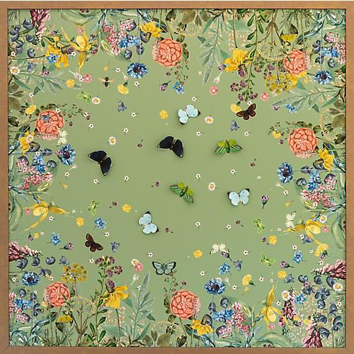Dawn Wolfe, Green Scarf w/ Butterflies